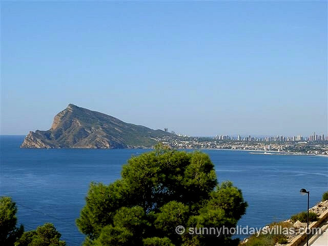 seaview on a clear day towards Altea and Benidorm
