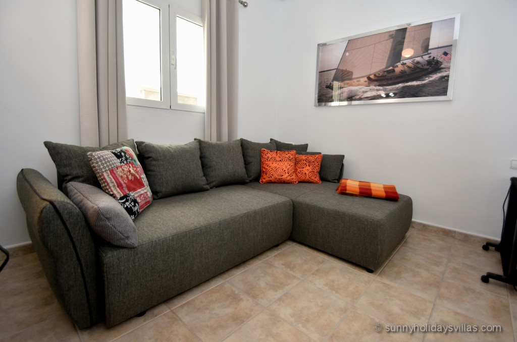 2nd, quiet room with sofa bed for 1 - 2 children